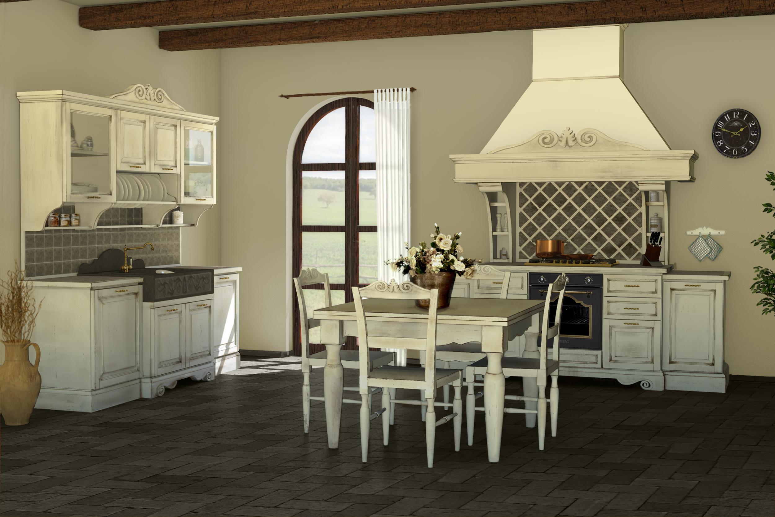 Cucine della nonna cucina classica shabby chic cucina - Cucina in casa ...