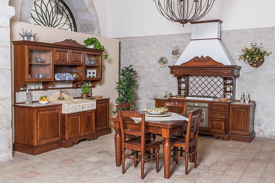 Cucine della nonna cucine classiche in legno massello - Patriarca cucine spa ...