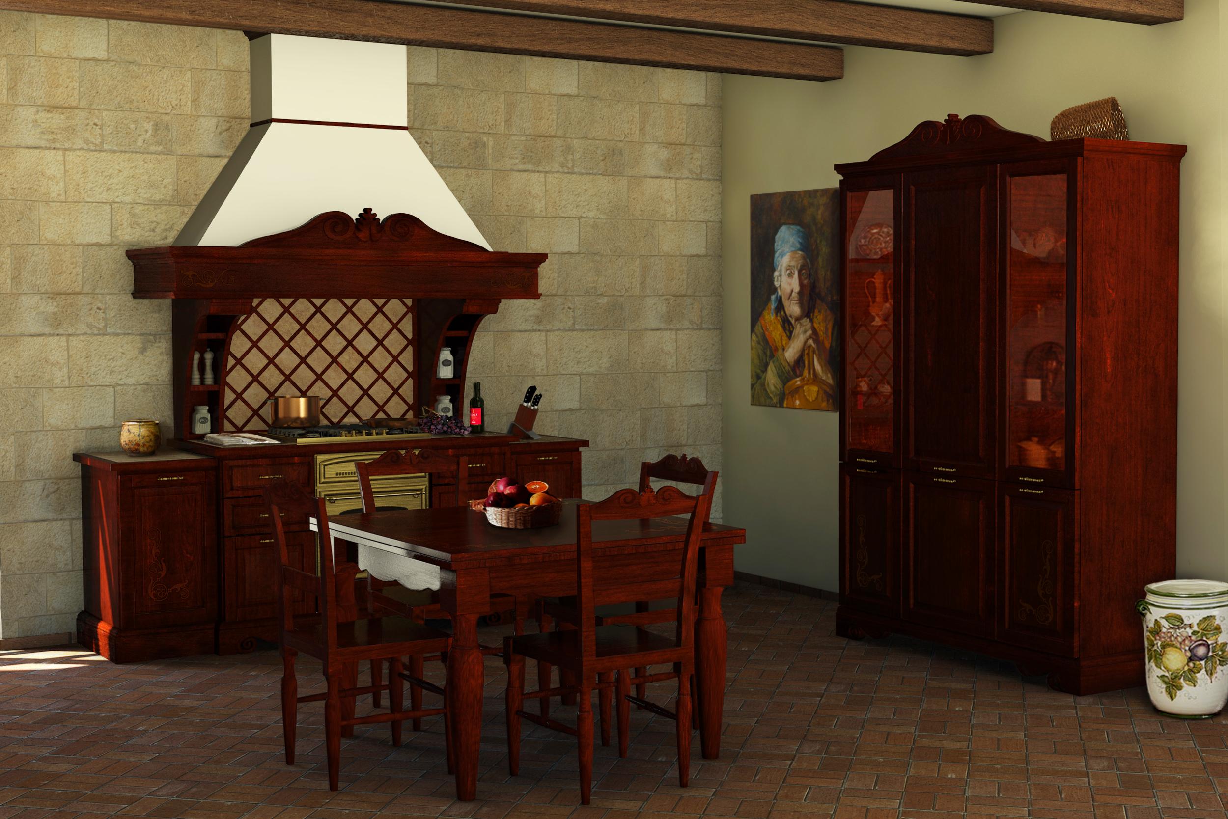 Cucine Della Nonna Cucine Classiche In Legno Massello #B43017 2500 1668 Cucine Classiche Con Frigo Esterno