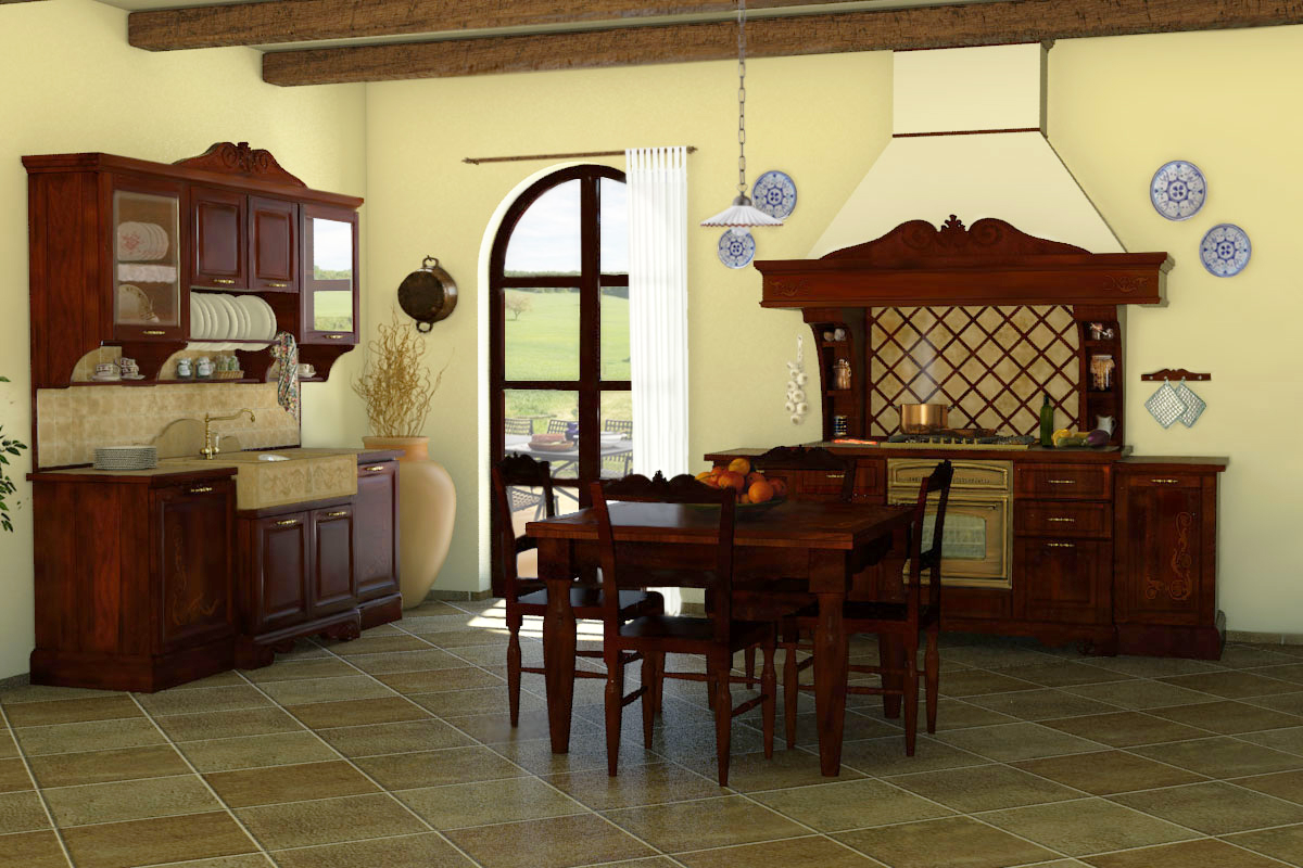 Cucine della nonna cucine classiche in legno massello for Casa rustica classica